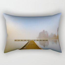 Morning fog at Green Lake, Seattle Rectangular Pillow