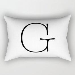 Letter G Typewriting Rectangular Pillow