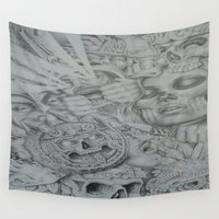history Wall Tapestries featuring raw history by david j.cam