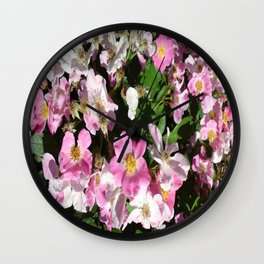 White and Pink Wall Clock
