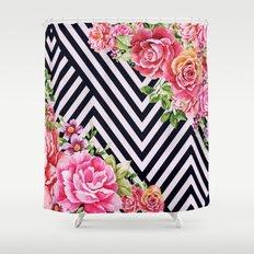 flowers geometric Shower Curtain