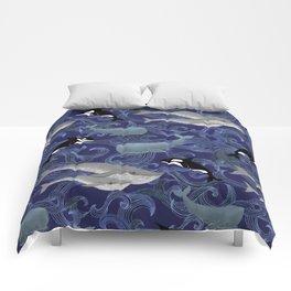 Beautiful Ocean Giants - purple Comforters