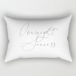 Duvet Cover Overnight Success Gift Stylized Boutique Guest Hotel Calligraphic Font fit for a Queen Rectangular Pillow