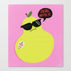 Pear Don't Care Canvas Print