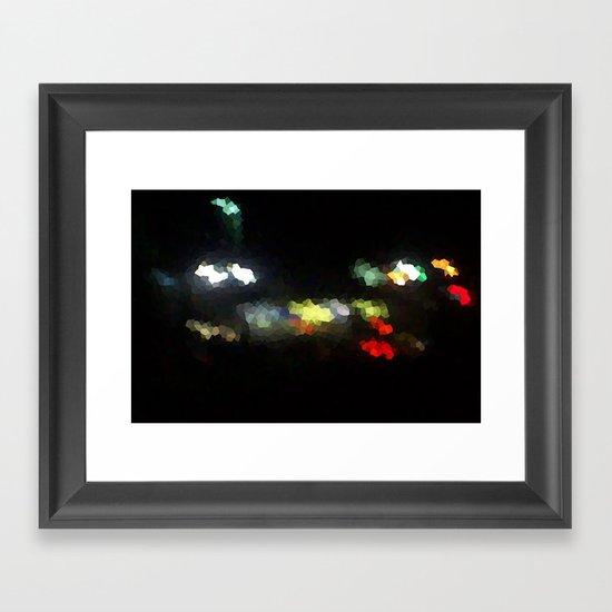 Diamonds on the Streets Framed Art Print