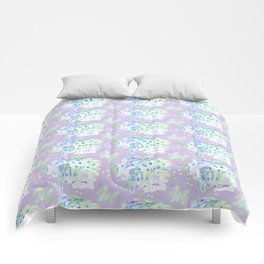 WATERCOLOUR PURPLE Comforters