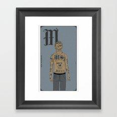 M is for.. Framed Art Print