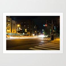Tokyo Streetlights Art Print