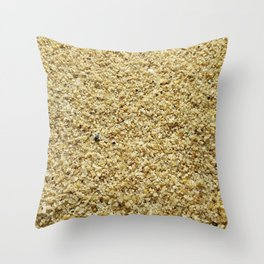 Coarse Grains of Sand Throw Pillow