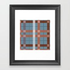 Urban Earth Tone Plaid  Framed Art Print