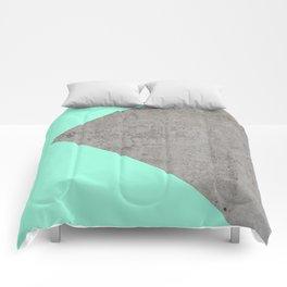 Sea Collage on Concrete Comforters