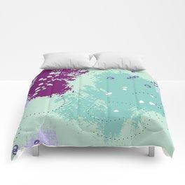Mint viole strokes Comforters