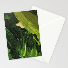green oil paint camouflage Stationery Cards