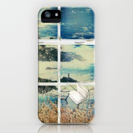 The window of the old house by the sea iPhone Case
