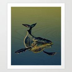Lone Whale  Art Print