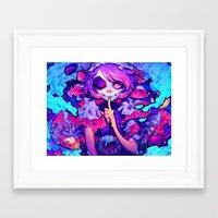 barachan Framed Art Prints featuring wraith by barachan