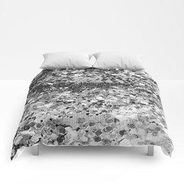 Sparkly Silver Glitter Confetti Comforters