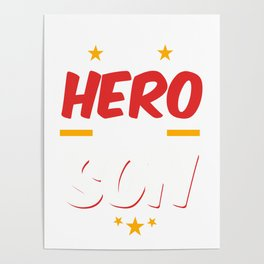 Military Service National Service Army Navy I Have A Hero I Call Him Son Gift Poster