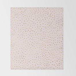 Dotted Gold & Pink Throw Blanket