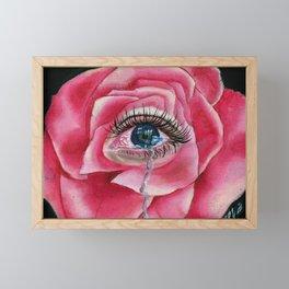 Rose tear Framed Mini Art Print