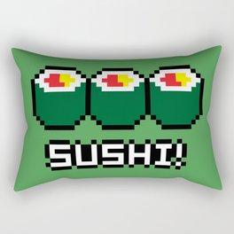 8-Bit Sushi Rectangular Pillow