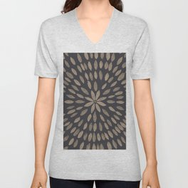 Mandala Flower #5 #drawing #decor #art #society6 Unisex V-Neck