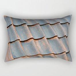 Old tile roof Rectangular Pillow