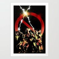 ghostbusters Art Prints featuring ghostbusters by LynxArtCollection