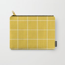 White Grid - Yellow BG Carry-All Pouch