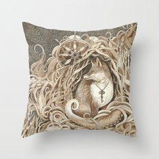 The Fox and the Sea Throw Pillow