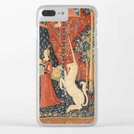 The Lady And The Unicorn Clear iPhone Case