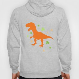 Lucky Orange Dinosaur St Patrick's Day Clover Cute Design Hoody