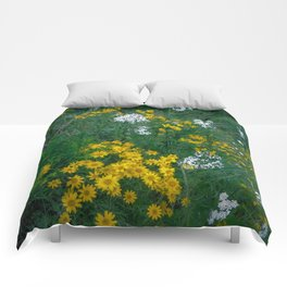 Flowers On the Edge Comforters