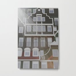 Zaanse houses Netherlands   Fine Art Travel Photography Metal Print