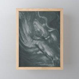PPG Night Watch (Pewter Green) Flowing Pearlescent Haze, Opalescent Fluid Art Framed Mini Art Print