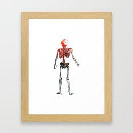 Skeleton in your closet Framed Art Print
