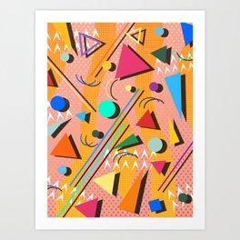 80s pop retro pattern Art Print