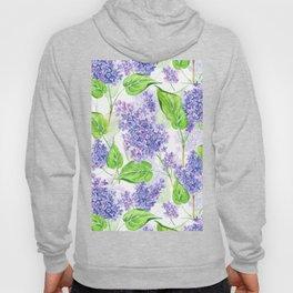Violet lilacs watercolor Hoody