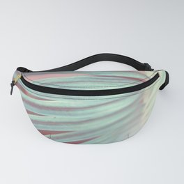Tropical Leaf in Pink and Aqua Fanny Pack