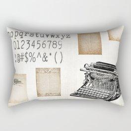 Vintage Office - Writers Block Rectangular Pillow