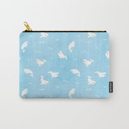 Beluga Whales Carry-All Pouch