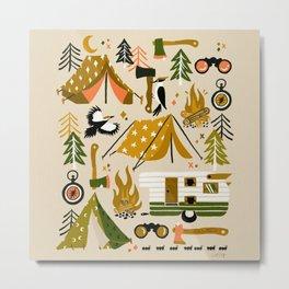 Camping Kit – Olive Palette Metal Print