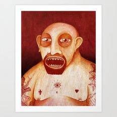 Los tattoos del sombra Art Print