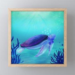 Underwater friends Framed Mini Art Print