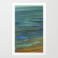 Sand to Wave Art Print