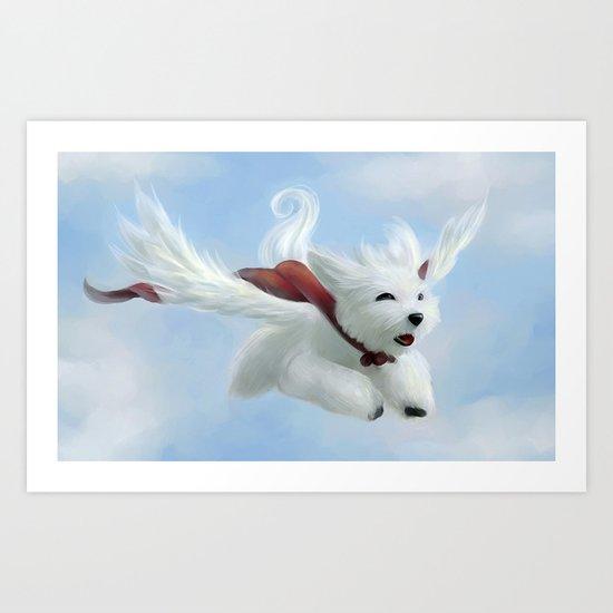 Super Puppy Art Print
