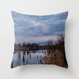 Cloudy Skies Throw Pillow