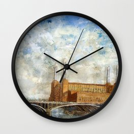 Battersea Power Station London January 2012 Wall Clock