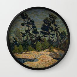 Tom Thomson - Byng Inlet, Georgian Bay - Canada, Canadian Oil Painting - Group of Seven Wall Clock