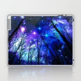black trees purple blue space Laptop & iPad Skin